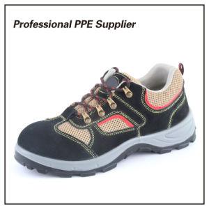 Transpirable Cuero auténtico S1p zapato de trabajo Ce