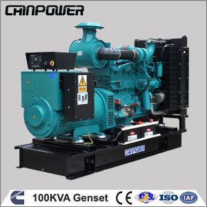 80kw 100kVA générateur diesel Cummins type ouvert avec filtre à carburant