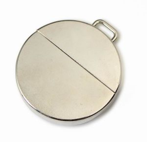 Metal Round Flat USB Flash Disk, Portable and Hanging Shape