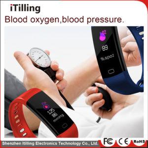 La pantalla a color de moda impermeable Bluetooth Fitness Sport elegante Pulsera Reloj Pulsera con Monitor de ritmo cardíaco, tensiómetro