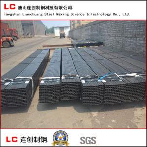 Tubo de acero cuadrado negro para la estructura de construcción con superficie de Oided