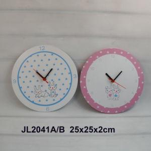 2015 RoHS Reloj de pared de madera para bebés