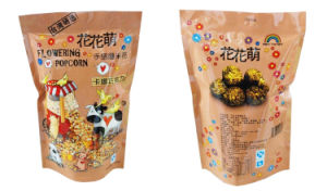 Il popcorn Bag/Stand aumenta Snack Bag con Zipper/Gusseted Popcon Packaging