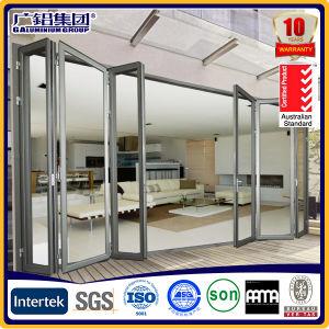 Porta Bi-Folding alumínio/alumínio porta rebatível/Porta Multilâminas