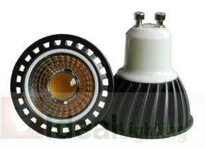 LED GU10 5W COB Spotlight 230V Black Aluminum mit Lens, Dimmable
