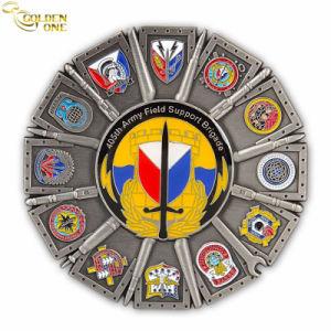 Aleación de zinc Fundición Deporte medalla con cordón impreso