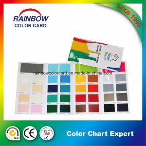 Qualität passte gefaltete Drucken-Lack-Farben-Karte an