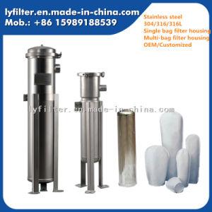 SS304 y SS316 Filtro de Bolsa de vivienda Superficie de pulido de vidrio para la filtración de cerveza
