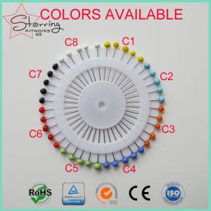 Suministro de coser de vidrio colorido 38mmn Cabeza Cabeza Pasador recto de coser