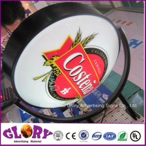Открытый круглый пиво дисплей акриловый светодиодный индикатор рекламы .