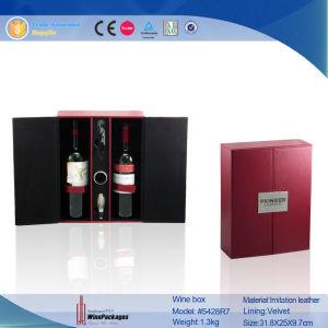 سوداء & حمراء جلد خمير يعبّئ صندوق (5428)