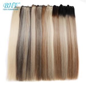 Прямой человеческого волоса, бразильский волос человека дважды обращено человеческого волоса Weft