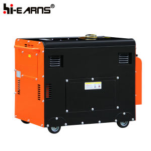 Générateur Diesel De type silencieux Air-Cooled Définir la couleur verte (DG6500SE3)