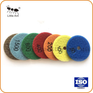 La Chine 80mm de 3 pouces Diamond Polishing Pads souple à sec