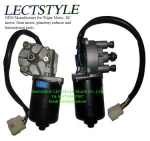 24V 80W 30rpm45rpm Motor van het Toestel van de Worm van de Ruitewisser van gelijkstroom de Elektro met de Duidelijke Schacht van de Sleutel & van de Schroef