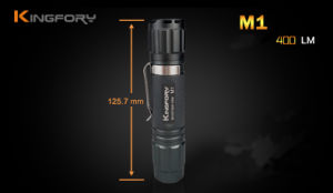 Los modos de táctica de 400 lumen 3XP-G2 R5 LED linterna LED de 1x18650