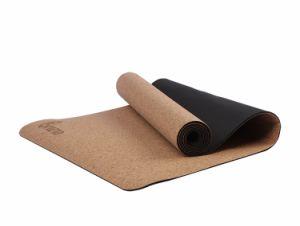 BSCI 5mm corps de construction/l'exercice de Cork et de tapis de yoga en caoutchouc