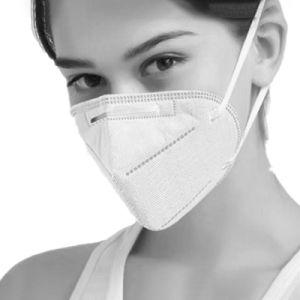 Инвентаризация FDA KN95 маску для лица5 Layerantivirus с антибактериальным предохранительный фильтр 5 с диагональным кордом