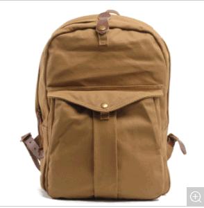 Sac à dos en toile imperméable Leisurre étudiant sac à dos de l'école
