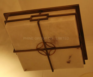 Square Lámpara de techo de mármol con la certificación