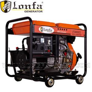 5kVA generador de soldadura de gasolina con asa y ruedas GX620