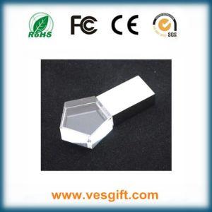 Новые стеклянные 3D-лазерной гравировки кристально чистый флэш-памяти USB