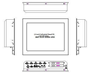15  2와 더불어 산업 Touchscreen 위원회 PC, * PCI 팽창 슬롯, D2550 CPU, 2GB 렘, 32GB SSD, 2glan, 4*RS232