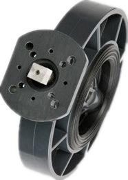 Vanne papillon d'actionneur non pneumatique de PVC Dn50-Dn300