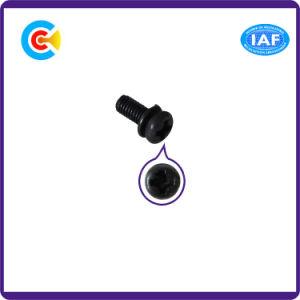 Go/DIN/Carbon-Steel JIS/ANSI/Stainless-Steel 4.8/8.8/10.9 galvanisé Combinaison de la rondelle élastique Vis transversale
