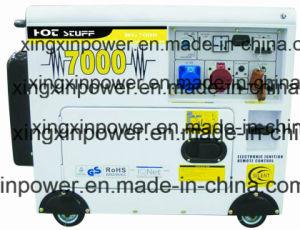 5kw super leise Dieselluft abgekühlter leiser Generator, beweglicher Typ