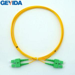 Sc/APC Sm Dúplex Cable de conexión de fibra óptica