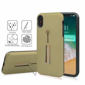 iPhone X/10のための指ストラップのKickstandのリングの立場のホールダーが付いている耐震性の保護電話箱