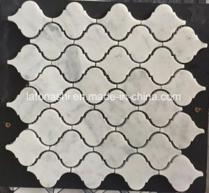 Mosaico di marmo bianco di pietra naturale per le mattonelle di pavimento, medaglione