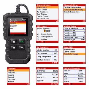 Запустить X431 Obdii/допускаемого бортовой системой диагностики кода Scan Tool Creader 3001 Auto Diagnostic-Tool с многоязыковой CR3001 Pk Al519 Om123 Elm327