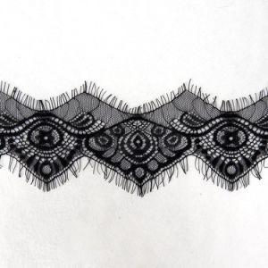 Double côté Dentelle jacquard Polyester chimique de cils Ribbon pour la tenue vestimentaire