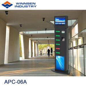 Fußboden-stehende Stahlkarosserien-Handy-Ladestation mit 6 Digital befestigten Schließfächern APC-06A