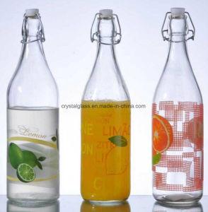 500ml 1000ml luftdichte Milch-Glas-Getränkeflasche mit Klipp-Schwingen-Schutzkappe