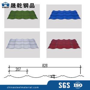 En carton ondulé couleur acier prépeint tôle de toit