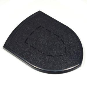 Diseño de protección inalámbrica Qi mini cargador de teléfono móvil para iPhone X/ iPhone 8 Plus con el logotipo del fabricante
