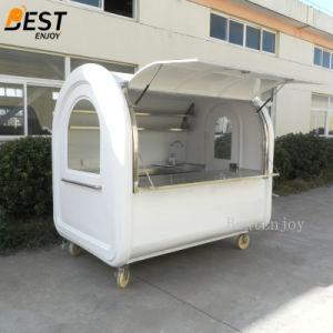 Bestenjoyの工場移動式ファースト・フードのキオスクの価格の現代デザイン飲み物を販売する小さい車輪の通りの軽食