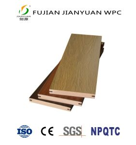 ASA-Co-Extrusion PVC solide du grain du bois de plein air WPC Flooring