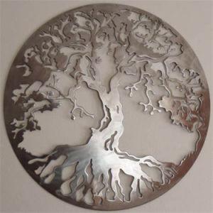 Cadeau promotionnel Round Metal Craft Wall Art cadeau de décoration de l'arbre