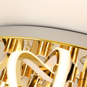 32 Tamanho Grande decorativos das Luzes K9 Morden Acrílico Cristal Hotel Gold LED de iluminação pendente do Teto