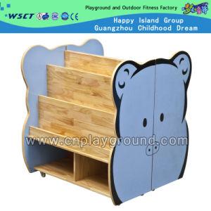 Mobília de madeira do brinquedo das crianças da biblioteca do gabinete bonito dos desenhos animados (HC-3706)