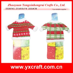 クリスマスの装飾(ZY14Y51-7-8)のクリスマスのワイン・ボトルのセーターの装飾