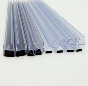 Chuveiro Porta de vidro à prova de borracha de PVC fita de vedação com pé magnético
