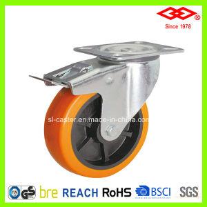 5  Brake PU Caster Wheel (P101-36D125X40S)를 가진 회전대 Plate