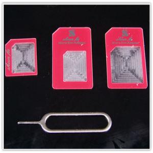 Nova chegada 3 em 1 Nano Adaptador SIM para iPhone 5