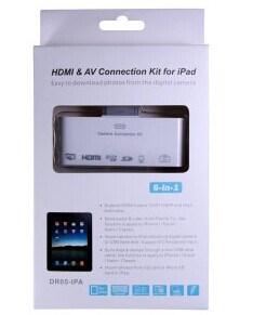 6 in 1 HDMI en AV Connection Kit voor iPad