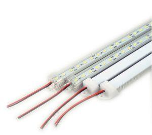 DC 12V 72 5730 SMD LED rígida Barra de faixa de luz com U em alumínio + Tampa de PC